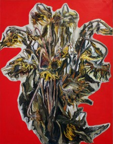 SUNFLOWERS - 2010 - oil on canvas - 115x90 cm
