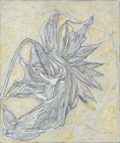 Marja de Raadt 2014-2018 - uit de serie Zelfportret als zonnebloem - gem. techniek op papier - 39x33 cm