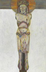 Marja de Raadt 2018 - Crucifix - olieverf op linnen - 120x90 cm.