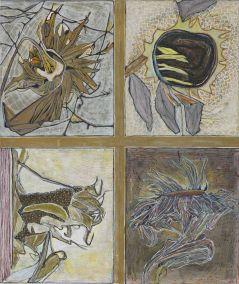 Marja de Raadt 2016 -ICOON III - gem. techniek op papier - 80x68 cm