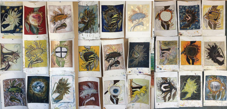 3 x 9 - Zelfportret als zonnebloem - Marja de Raadt